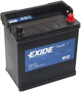 Аккумулятор EXIDE EXCELL 12V 45AH 330A ETN 0(R+) B1 218x133x223mm 11.9kg