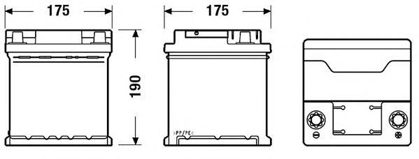 Аккумулятор EXIDE EXCELL 12V 44AH 400A ETN 0(R+) B13 175x175x190mm 10.61kg