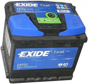 Аккумулятор EXIDE EXCELL 12V 50AH 450A ETN 0(R+) B13 207x175x190mm 12.99kg