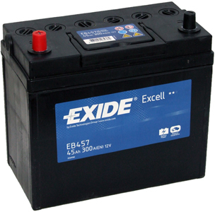 Аккумулятор EXIDE EXCELL 12V 45AH 300A ETN 1(L+) B0, тонкие клеммы 234x127x220mm 11.9kg
