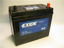Аккумулятор EXIDE EXCELL 12V 45AH 300A ETN 0(R+) B0, тонкие клеммы 234x127x220mm 11.9kg