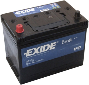 Аккумулятор EXIDE EXCELL 12V 70AH 540A ETN 1(L+) B9 266x172x223mm 19kg