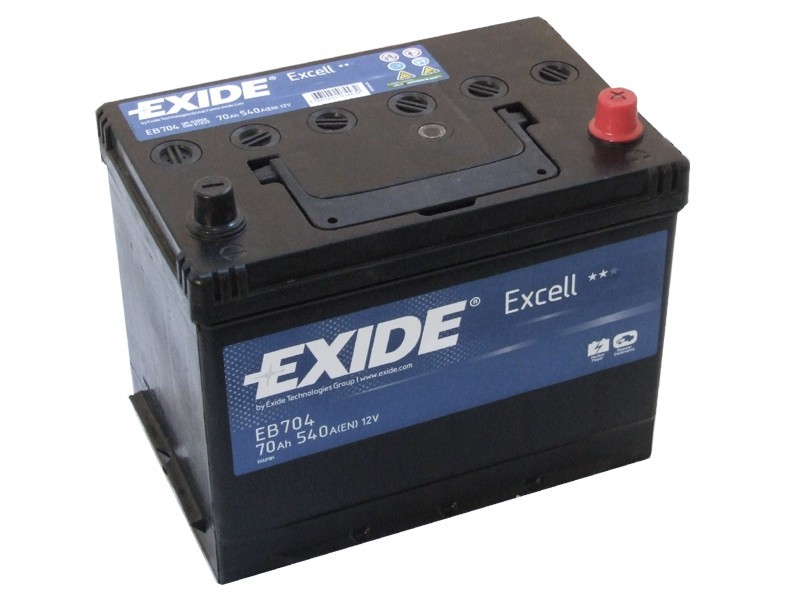 Аккумулятор EXIDE EXCELL 12V 70AH 540A ETN 0(R+) B9 266x172x223mm 19kg